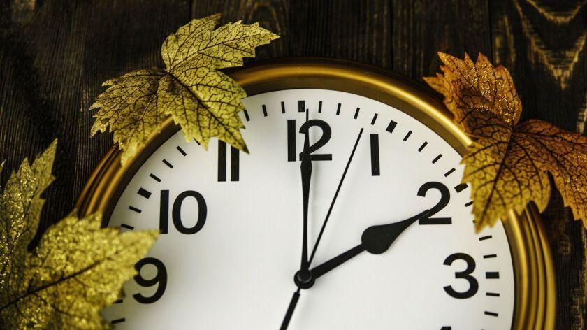 Daylight savings time. Clocks fall back in Autumn