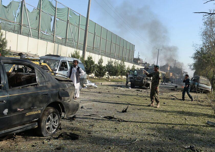 Suicide blast in Kabul, Afghanistan