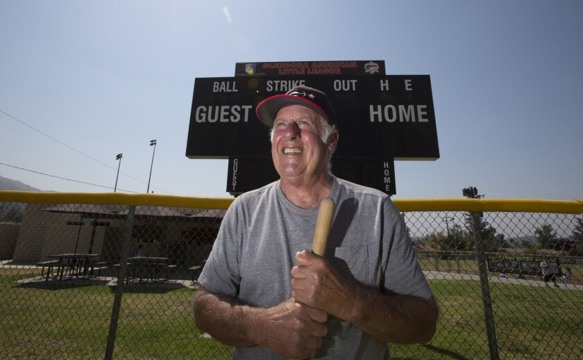 Ted Haller is retiring after 35 years as a groundskeeper of the Glendora Little League fields.