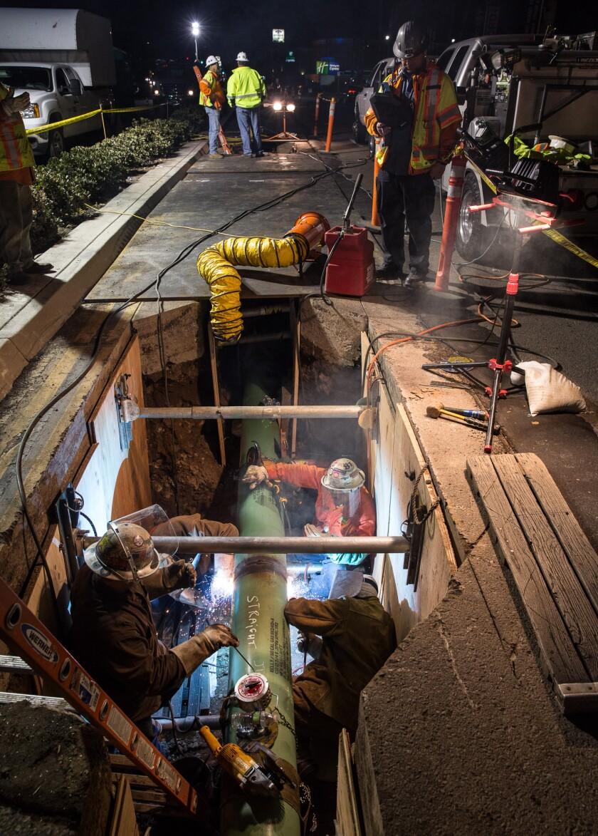 SDG&E pipeline work in Pacific Beach 2015