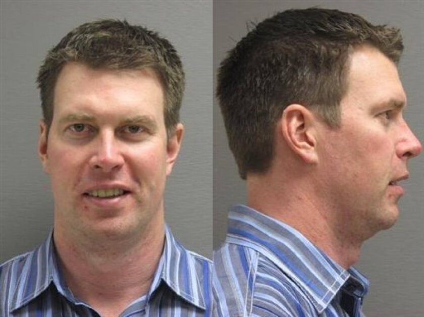 In this booking photo released by the Cascade County (Mont.) Sherrif's Office. Police Dept., former NFL player Ryan Leaf is shown. Leaf was arrested Friday, March 30, 2012, in his hometown of Great Falls, Mont., on burglary and drug possession charges, police said. (AP Photo/Cascade County Sherrif'