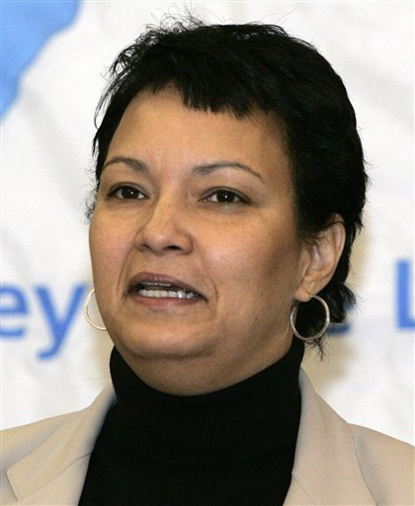 In this Jan. 18, 2006, file photo New Jersey Department of Environmental Protection Commissioner Lisa Jackson speaks at a news conference in Trenton, N.J. Jackson was recently named as New Jersey Gov. Jon Corzine's chief of staff. Democratic officials say President-elect Barack Obama intends to nominate former New Jersey Environmental Protection Commissioner Lisa Jackson for environmental protection agency administrator. (AP Photo/Mike Derer, File)