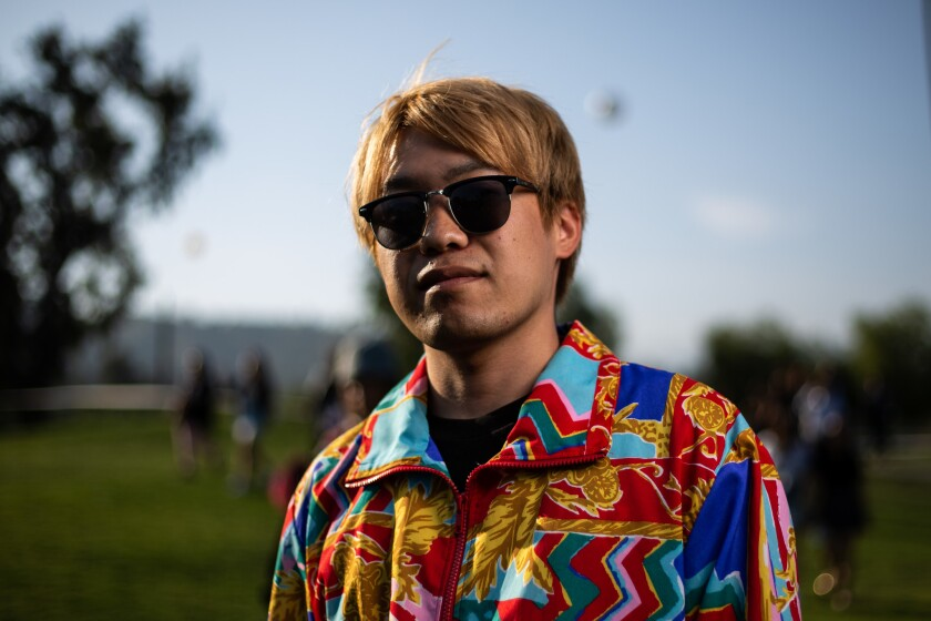PASADENA, CALIF. - MAY 04: Yuma Tajiri, 20, of Osaka, JP, poses for a portrait before heading into T