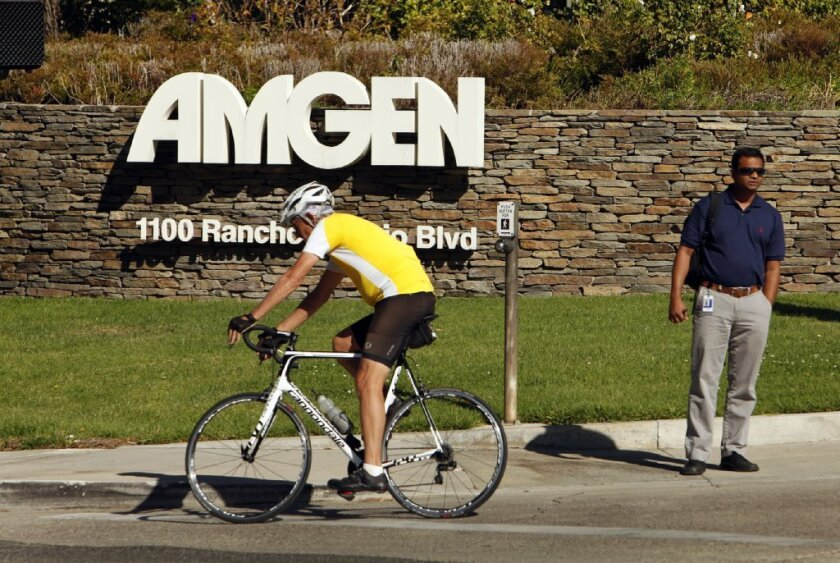 Amgen Inc. of Thousand Oaks, one of the nation's largest biotech companies, makes cholesterol drug Repatha.