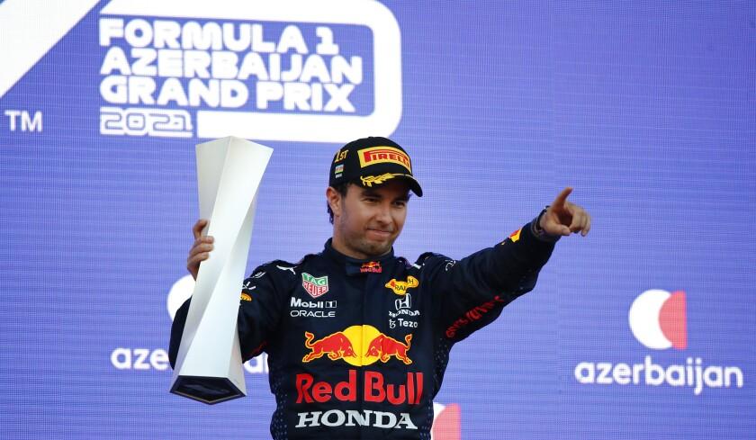 Sergio Perez wins Azerbaijan GP after Max Verstappen crashes - Los Angeles Times