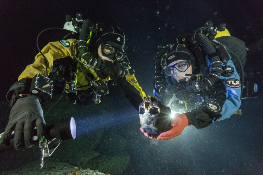 Underwater archaeologists