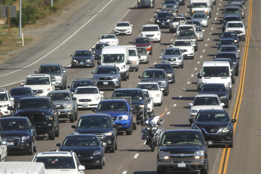 Afternoon rush hour traffic on Highway 78 on Friday, September 6, 2019 in San Marcos.