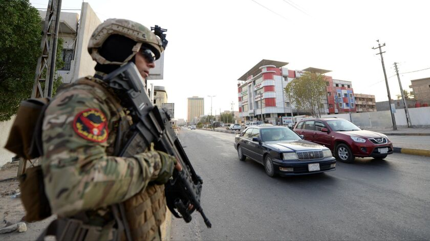 Iraqi government deployed additional military forces to impose security in Basra city, Iraq - 08 Sep 2018