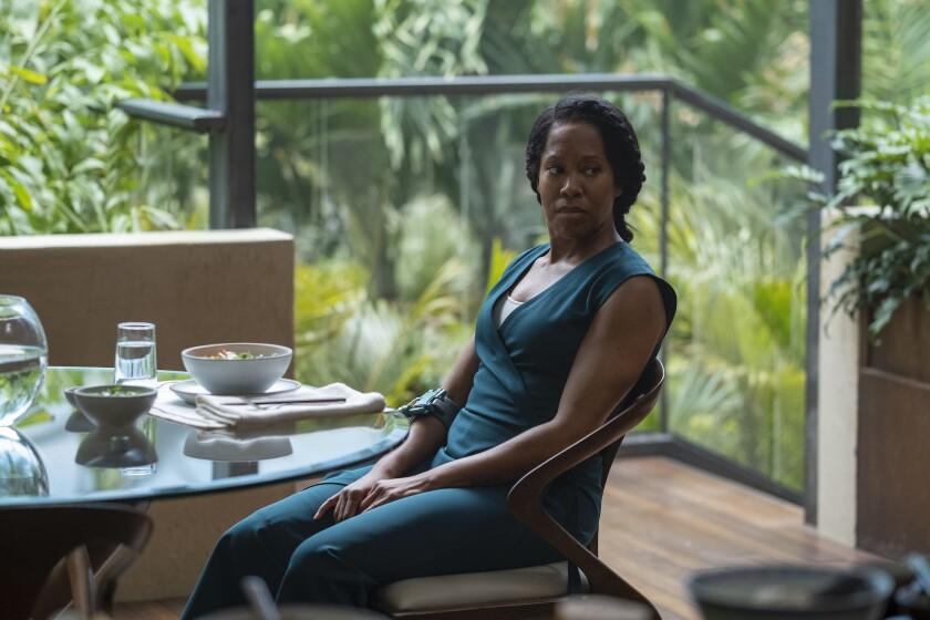 """Regina King in a scene from """"Watchmen."""""""