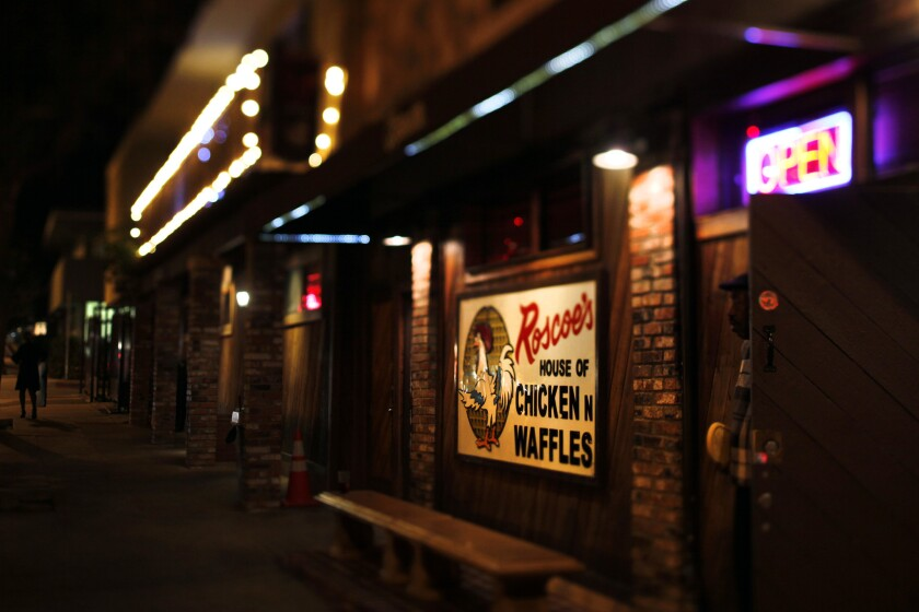 The parent company of Roscoe's House of Chicken and Waffles has filed for bankruptcy protection.