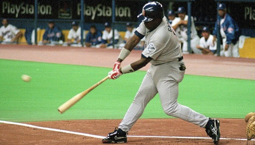 MLB Hall of Fame's Tony Gwynn delivers his historic 3,000th hit on Aug. 6, 1999.