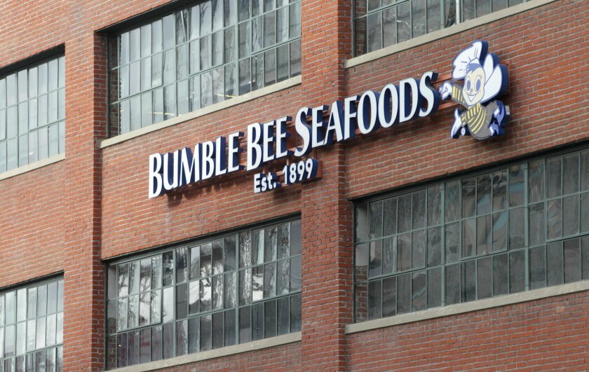 The Bumble Bee Seafoods building at Petco Park.