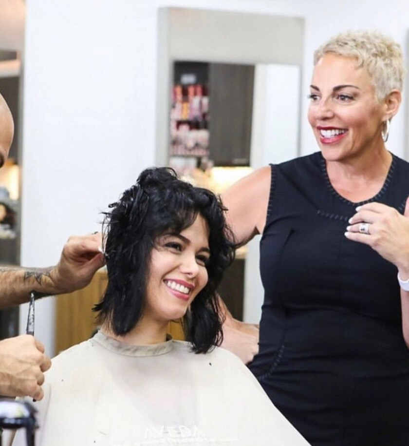 Keri Davis-Duffy, co-owner of the Gila Rut Aveda Salons in San Diego.