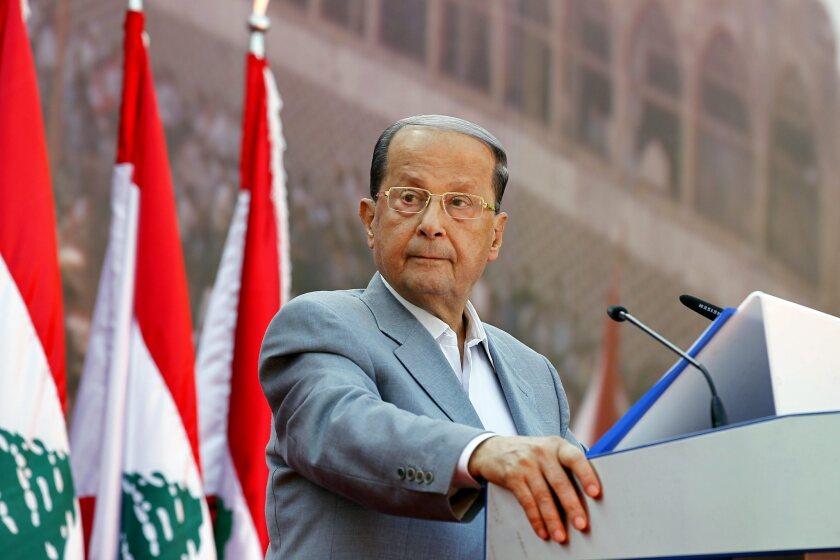 Michel Aoun on Oct. 11, 2015.