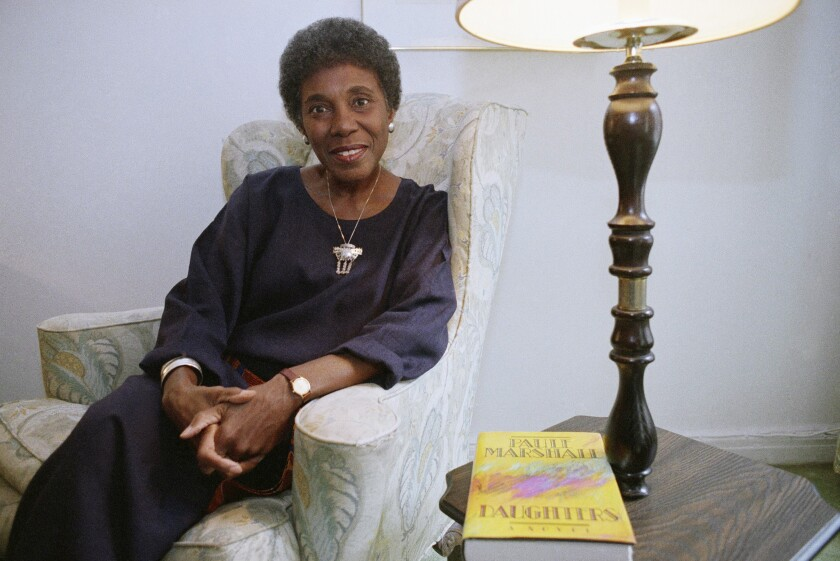 Author Paule Marshall in 1991 in New York. The acclaimed fiction writer has died at 90.