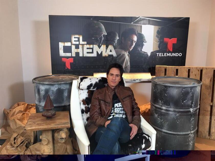 """El actor mexicano Mauricio Ochmann, protagonista de la recién estrenada producción """"El Chema"""", posa para Efe en los estudios de Telemundo el 1 de diciembre 2016, en Miami, Florida. EFE"""