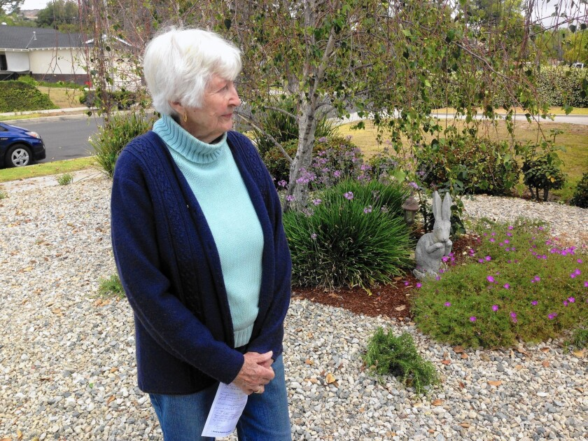 """Ellie Haney, 85, is one of plenty of ratepayers wondering whether her water and power bills are accurate. But after several calls to the DWP, """"I got nowhere,"""" she said."""