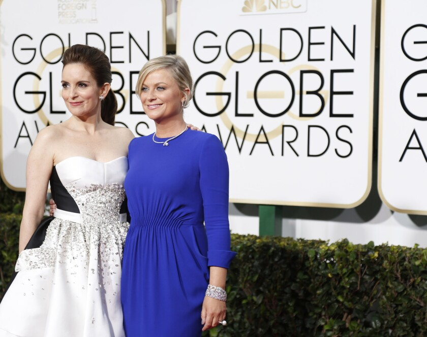 Tina Fey and Amy Poehler previously hosted the Golden Globes in 2013, 2014 and 2015.