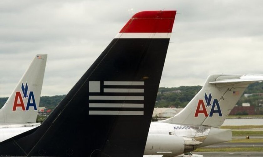 A merger between US Airways and American Airlines would cut competition on 12 non-stop routes and on 1,665 other routes with at least one stop, the U.S. Government Accountability Office said.