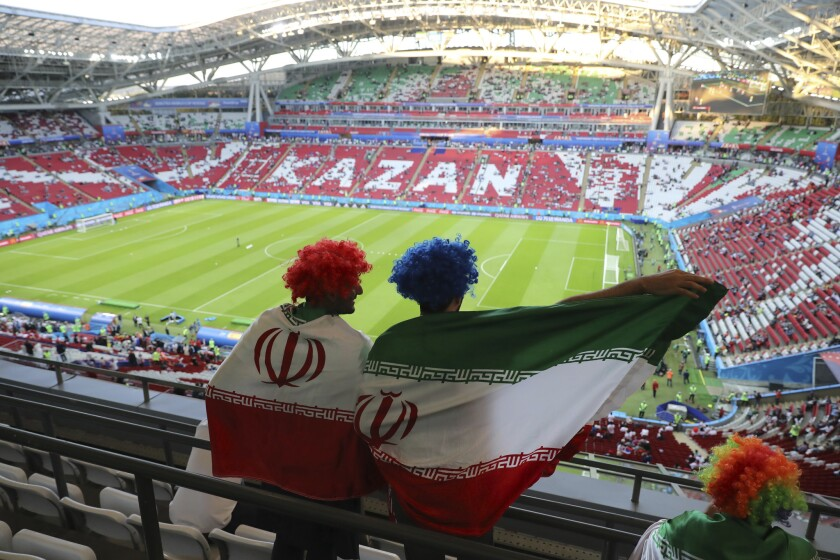 APphoto_Russia Soccer WCup Iran Spain
