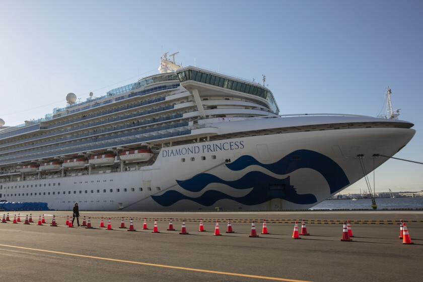 Coronavirus cruise ship passengers head to California military base for quarantine