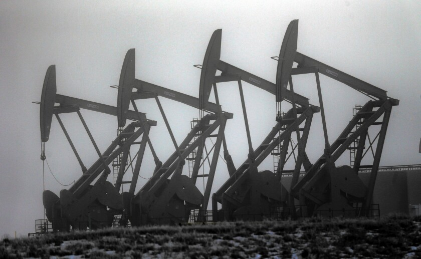 The price of a barrel of oil has plummeted from more than $100 to less than $35. Drilling dropped off dramatically in Williston, N.D., with the number of rigs in operation falling from nearly 200 to fewer than 70 over the last year or so.