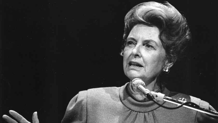 Phyllis Schlafly in 1989