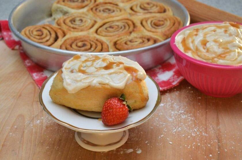 Cinnamon rolls with salted caramel frosting. Photo courtesy of Katherine Humphus.