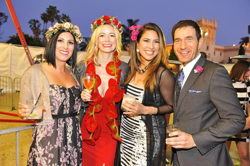 San Diegans dressed up and posed at Plaza de Panama at last year's Bloom Bash, held on April 12, 2019.