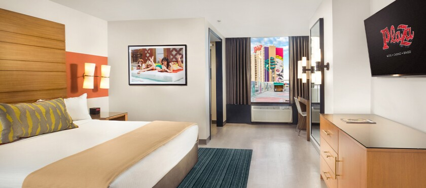 Among the recently renovated rooms at The Plaza is a pool suite.