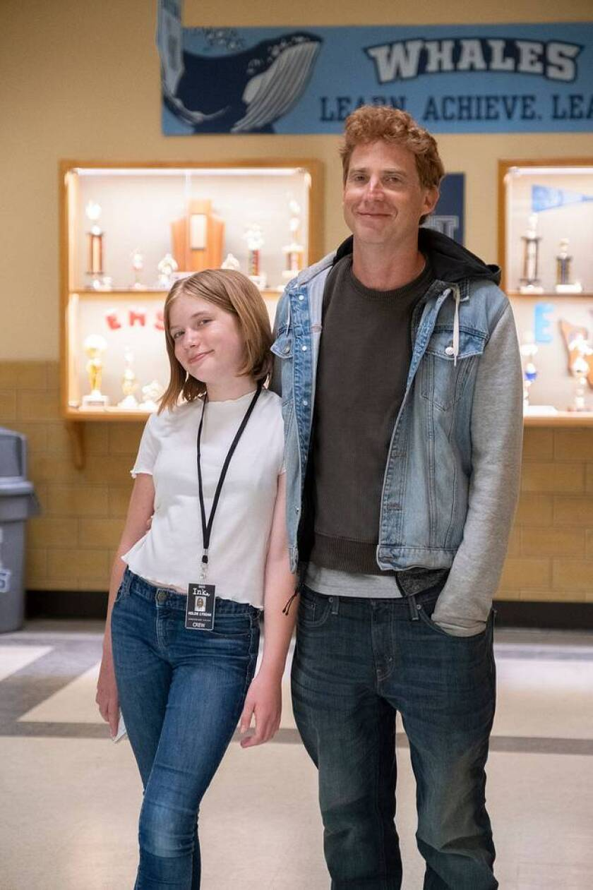 """Hilde Lysiak with her father. The young journalist inspired the Apple TV+ series """"Home Before Dark."""""""