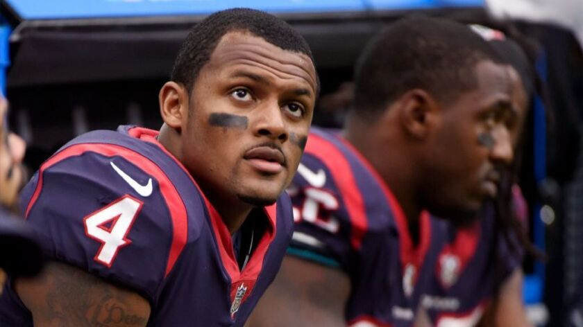 save off d6d5e 0a400 Texans rookie quarterback Deshaun Watson suffers season ...