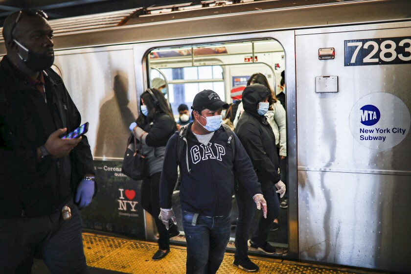 Virus Outbreak New York Daiy Life