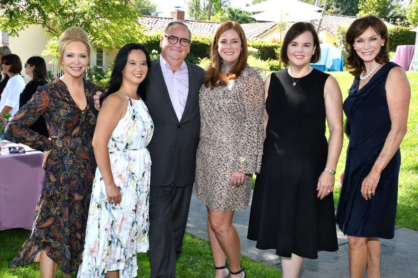 Sandra Maas (emcee), Kathy Reese (Inn at RSF sales and marketing director), Jerome Strack (Inn at RSF GM), Stephanie Rogers, Kathryn Cenci, Karen Hoehn (2012 Art of Fashion chair)