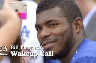 Bill Plaschke's Wakeup Call: Puig's return is the opposite of 'legendary'