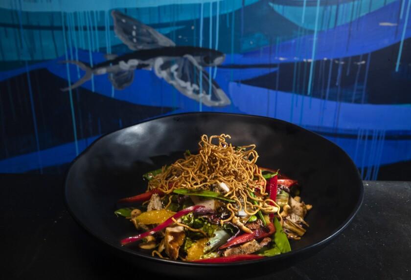 Chinese chicken salad, $17, is on the menu at Naupaka Beach Grill at the Westin Hapuna Beach Resort in Kohala Coast, Hawaii.