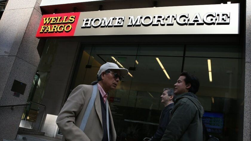 A Wells Fargo home mortgage office in San Francisco on Oct. 11, 2013.
