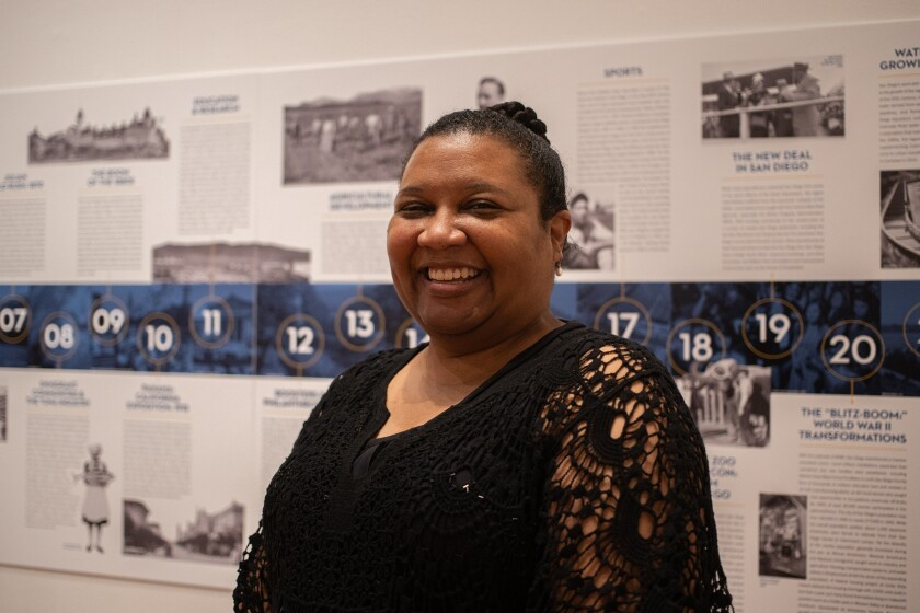 Shelby Gordon, marketing manager at the San Diego History Center
