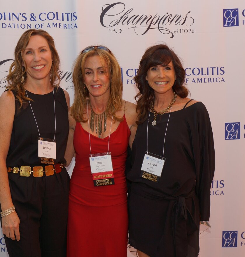 """Committee co-chairs Debbie Hart, Susan von Posern and Laurel Smith at the inaugural """"Champions of Hope"""" fundraiser last year."""