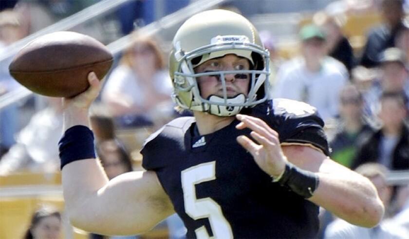 Gunner Kiel, ex-Notre Dame quarterback, to transfer to Cincinnati