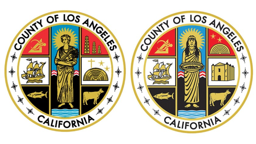 Former and current seals of Los Angeles County