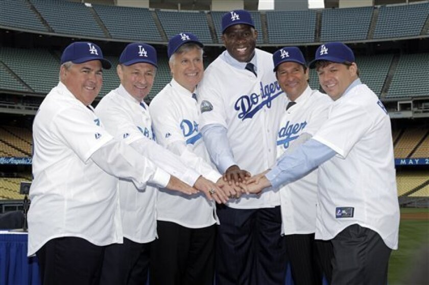 Dodgers begin new era with owners Magic, Kasten - The San Diego ...