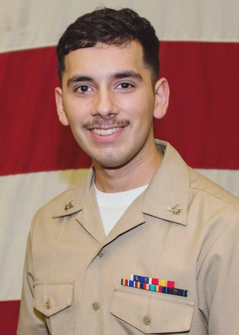 Aviation Electronics Technician 2nd Class Slayton Saldana, assigned to Norfolk, Virginia-base Helicopter Sea Combat Squadron 5 onboard the aircraft carrier Abraham Lincoln, was reported missing in the Arabian Sea Wednesday.