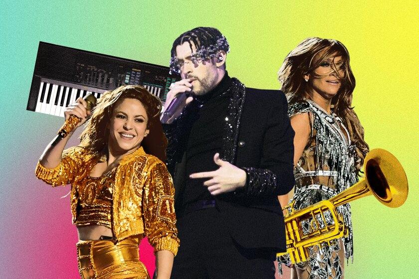 Shakira, Bad Bunny and Jennifer Lopez