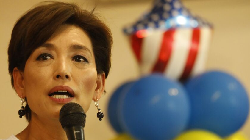 ROWLAND HEIGHTS, CA - AUGUST 25, 2018 - Former California Assemblywoman Young Kim, who's running for