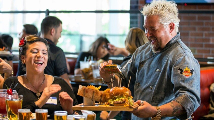 Chef Guy Fieri at the Linq restaurant.