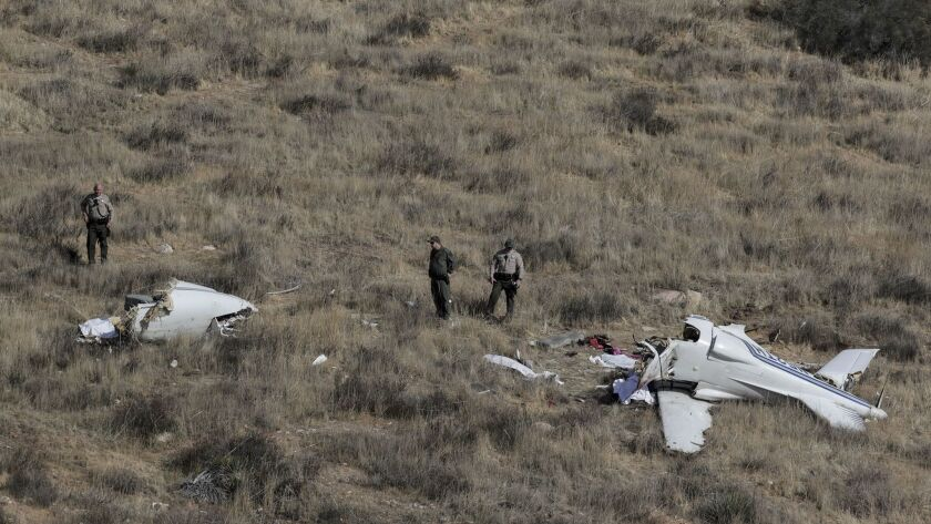 SANTA CLARITA, CA, SUNDAY, FEBRUARY 11, 2018 - A small experimental aircraft crashed, killing four p