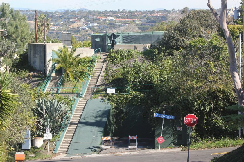 The city is planning to remove this 1909 reservoir on Country Club and Encilia Drives (off Torrey Pines Road), while replacing the 1949 La Jolla View Reservoir in La Jolla Natural Park with a larger, below-ground tank.