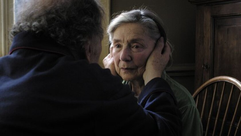 Jean-Louis Trintignant, left, and Emmanuelle Riva in 'Amour'