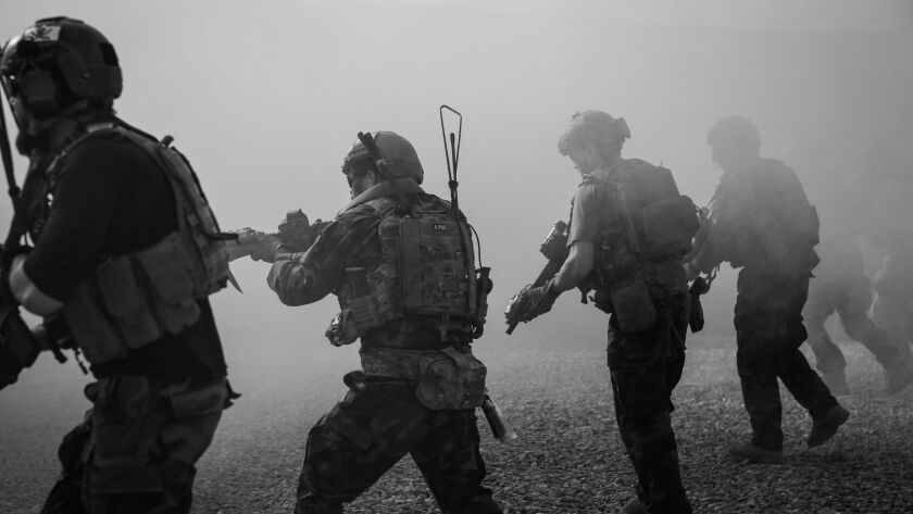 U.S. Army special operation forces in Kabul province in Afghanistan.